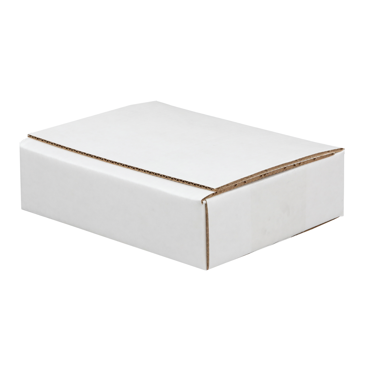 e-cube white corrugated box